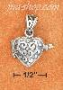 Sterling Silver SMALL PUFFED HEART LOCKET