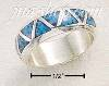 Sterling Silver TRIANGLE SHAPED TURQUOISE INLAY WEDDING BAND SIZ