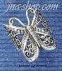 Sterling Silver LARGE BUTTERFLY FILIGREE RING SIZES 5-10