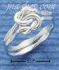 Sterling Silver MEDIUM DOUBLE FACETED LOVE KNOT RING SIZES 4-10