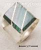 Sterling Silver MEN'S LARGE MALACHITE RECTANGULAR STRIPED RING
