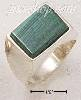 Sterling Silver MEN'S RECTANGULAR MALACHITE RING