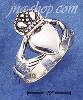 Sterling Silver X-LARGE ANTIQUE CLADDAGH RING