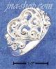 Sterling Silver FILIGREE SCROLLED HEART RING