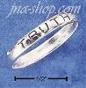 "Sterling Silver LIGHTWEIGHT & NARROW ""TRUTH"" BAND RING"