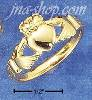 Sterling Silver UNISEX VERMEIL CLADDAGH RING
