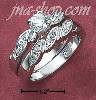 Sterling Silver 2 PC SET 4.5MM RND CZ W/TWISTED PAVE SHANK & TWI