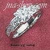 Sterling Silver WOMENS 7MM ROUND CZ RING W/ PRINCESS CUT CZ BAND