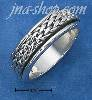 Sterling Silver MENS ANTIQUED WOVEN SPINNER BAND (8-13)