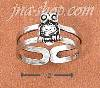 Sterling Silver DOUBLE SHANK OWL TOE RING
