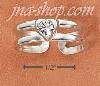 Sterling Silver DOUBLE SHANK W/ CLEAR CRYSTAL HEART TOE RING