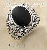 Sterling Silver MENS LG BEZEL SET OVAL ONYX RING WITH TAPERED SC