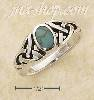 Sterling Silver GENUINE OVAL TURQUOISE RING WITH CELTIC KNOTS SH