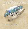 Sterling Silver HP TWIST W/ BLUE LAB OPAL TRIANGLE INLAY RING