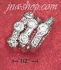 Sterling Silver RHODIUM PLATED SINGLE DOUBLE & TRIPLE CZ 3 RING
