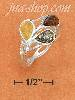 Sterling Silver MULTICOLOR AMBER TEARDROPS W/ WEAVE BAND RING