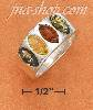 Sterling Silver MARQUIS MULTICOLOR AMBER 4 STONE HP RING