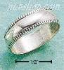 Sterling Silver ANTIQUED 5.5MM BEAD EDGE WIDE BAND SIZES 4-13
