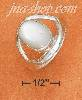 Sterling Silver 10X13MM OVAL MOTHER OF PEARL CABOCHON RING WITH
