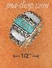 Sterling Silver TURQUOISE & MOP W/ MARCASITE DIVIDERS DOME RING