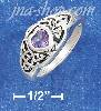 Sterling Silver 5MM AMETHYST HEART RING WITH CELTIC KNOTS ON EAC