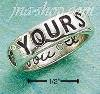 "Sterling Silver ""FOREVER YOURS"" W/ ""I LOVE YOU"" INSIDE BAND SIZE"