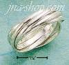 Sterling Silver SIX RING SLIDE RING SIZES 4-12