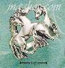 Sterling Silver TRIPLE HORSE RING SIZES 6-11