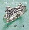 Sterling Silver SMALL MOTORCYCLE RING SIZES 5-10