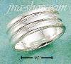 Sterling Silver CORRUGATED WIDE BAND SIZES 5-13