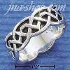 Sterling Silver CELTIC FANCY DESIGNER UNISEX BAND SIZES 5-13