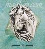 Sterling Silver ANTIQUED HORSEHEAD W/ FLOWING MANE RING SIZES 6-