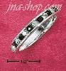 Sterling Silver CZ & SYNTHETIC GARNET JANUARY ETERNITY BAND (5-9
