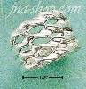 Sterling Silver FOUR BAND WAVERING TWISTED WIDE BAND SIZES 5-12