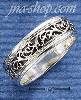 Sterling Silver 6MM ANTIQUED FEATHERED DESIGN BAND W/ HP EDGE SI