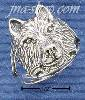 Sterling Silver MEDIUM WOLF HEAD RING SIZES 4-10